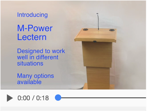 M-Power Lectern video demonstration